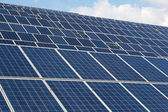 Large Solar energy array for clean electricity production — Stock Photo