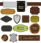 Leather Labels — Stock Vector