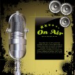 Royalty-Free Stock Vector Image: Local radio station - grunge background