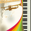 Retro jazz background - Image vectorielle