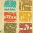 Set of vintage styled pizza labels — Stock Vector #19014427