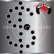 Bullet holes - Stock Vector