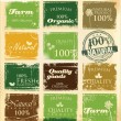 Collection of eco and bio labels — Stock Vector