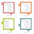 Paper message pad — Stock Vector