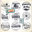 Vintage summer labels — Stock Vector #26138241