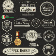 Stock Vector: Set of Retro Vintage coffee labels