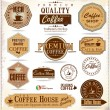 Set of Retro Vintage coffee labels - Stock Vector