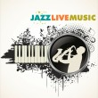Jazz background — Stock Vector