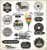 Vintage summer labels — Stock Vector