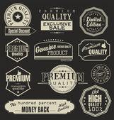 Conjunto de emblemas do vetor, rótulos e fitas — Vetorial Stock