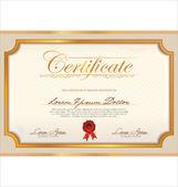 Modèle de certificat — Vecteur