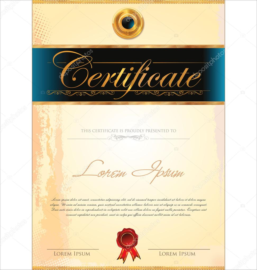 Certificate Template Stock Vector 169 Totallyout 26139813