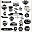 Stock Vector: Set of vintage premium quality stickers and elements