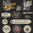 Jazz music — Grafika wektorowa