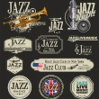 Jazz music — Vector de stock