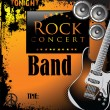 Rock music background — Image vectorielle