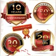Stock Vector: Anniversary sign collection, retro design