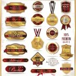 Set of vintage premium quality stickers and elements — Stock Vector #26838459