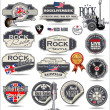 Stock Vector: Rock music badges and labels