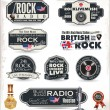 Rock music badges and labels — Stock Vector #26838555