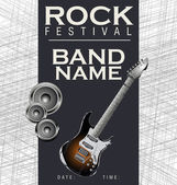 Rock music background — Vector de stock