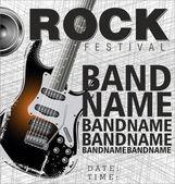 Rock music background — Stock Vector