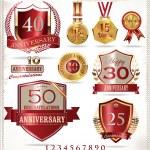 Anniversary sign — Stock Vector #26849783