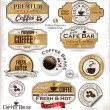 Set of Retro golden coffee labels — Stock Vector