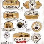 Set of Retro golden coffee labels — Stock Vector #26844453