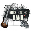 Stock Vector: Rock concert background
