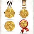 Gold medal set — Stock Vector #26849773