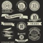 Anniversary sign — Stock Vector
