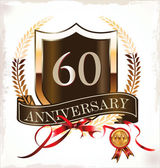 Anniversary sign collection, retro design — Vector de stock