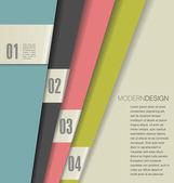 Plantilla de diseño moderno — Vector de stock