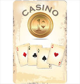 Casino poster — Vector de stock