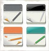 Clean calendar template — Stock Vector