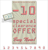 Sale offer old retro vintage background — Stock Vector