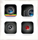 Camera pictogrammenset — Stockvector