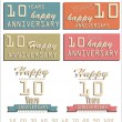Anniversary sign — Stock Vector #26850031