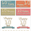 Anniversary sign and background — Stock Vector #26850031