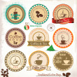 Retro style coffee vintage collection — Stock Vector