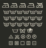 Washing signs — Stock Vector