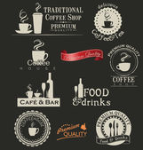 Label set for restaurant and cafe — Stock Vector