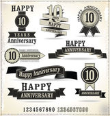 Anniversary sign — Stock Vector