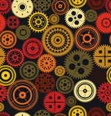 Seamless vector gear and cogwheel retro color background — Vettoriale Stock