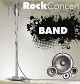 Fondo de música rock — Vector de stock