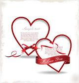 Sevgi ve Sevgililer arka plan — Stok Vektör