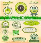 Set of organic labels — Stock Vector