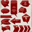 Valentines Day Labels. Vector illustration. — Stockvectorbeeld