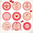 Stock Vector: Valentines Day Labels. Vector illustration.